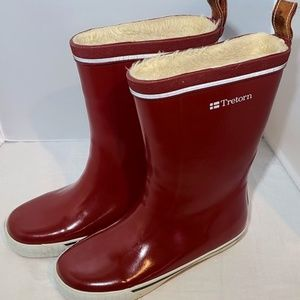 Women's Tretorn Mid Red Rubber Boots